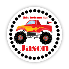 personalized label stickers black polka dots red