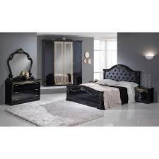 chambre a coucher complet chambre a coucher complete noir et doré achat vente chambre
