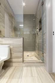 Contemporary Tile Bathroom Contemporary 3 4 Bathroom With High Ceiling By Artistic Tile