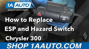 esp bas light chrysler 300 how to replace install esp and hazard switch 2006 chrysler 300 youtube