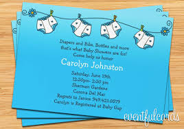 Gift Card Shower Invitation Wording Diapers Baby Shower Invitations