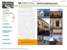 taller desalojo de estructuras y edificaciones vi sirchal santo domingo 2002 diagnóstico sector santa barbara
