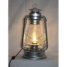 Lantern Table L Bright Galvanized Chion Electric Lantern Table L