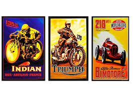 vintage alfa romeo race cars vintage indian triumph alfa romeo motor racing car motorbike print
