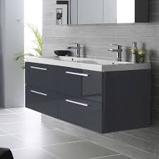 Wooden Vanity Units For Bathroom by Black Gloss Wall Hung Vanity Units With Basin For Modern Bathroom