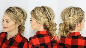 two dutch braids u0026 low messy bun youtube