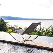 talenti kot garden sun bed rocking modern sun lounger chic design
