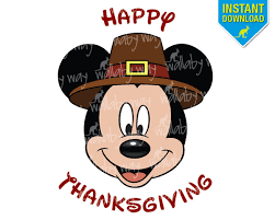 disney happy thanksgiving mickey printable iron on transfer or