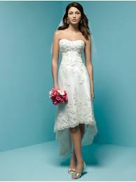 high wedding dresses a line sweetheart knee length high low asymmetrical lace