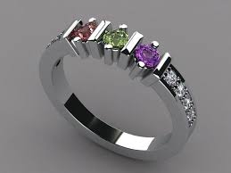 mothers rings 4 stones 3 mothers ring with diamonds