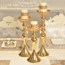 Wedding Candle Holders Centerpieces by Gold Wedding Centerpiece Tabletop Mental Candle Holder Tealight