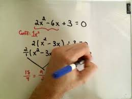 completing the square example 2 solve quad equations youtube