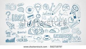 doodle presentations venture capital funding concept business doodle stock vector