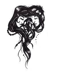 elegant gemini symbol tattoo stencil for girls picsmine