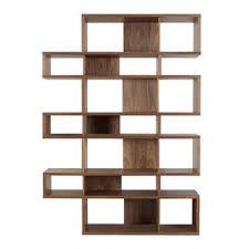 Modloft Pearl Bookcase Modern Walnut Bookcases Allmodern