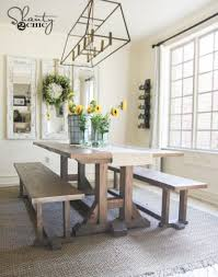 diy farmhouse dining table plans hahnow