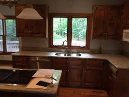 cherry cabinets kitchen paint color