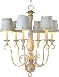 antique french country mini chandelier with ceramic lamp shades
