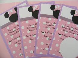 baby minnie mouse baby shower invitations logo pinterest