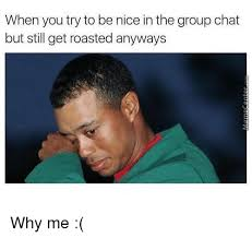 Roast Meme - when you try to be nice in the group chat but still get roasted