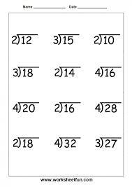 second grade division worksheets 3 super teacher math