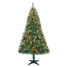 white nyc 4 mini tree rental package with clear lights
