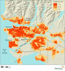 Population Map Vancouver Area Population Density Map Sightline Institute