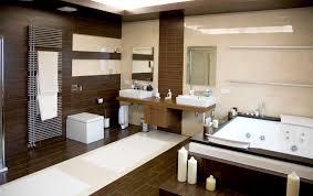 bathroom luxurious modern white bathroom with dark wood floors