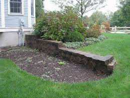 improving a retaining wall pumpkin brook organic gardening