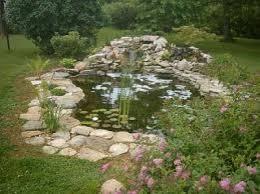 Backyard Pond Building Garden Design Garden Design With Pond Building Residential Pond