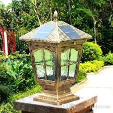 solar powered outdoor l post lights outdoor globe solar post light pillar ls street lighting outdoor