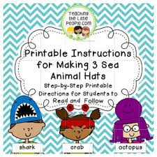 printable instructions classroom sea hats revisited teaching the little people early literacy