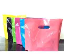 pink gift bags custom cheap small large gift jewerly plastic bags with handle