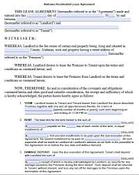 rental lease template real estate forms