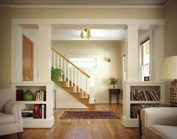 room divider bookcase living room traditional with built in book