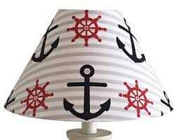nautical lampshade etsy