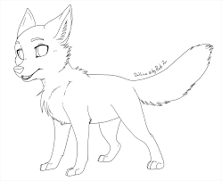 free foxcub outline 2012 by rukifox on deviantart