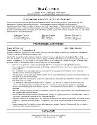 Resume For Manager Position Examples by Sample Resume For Accounting Position Haadyaooverbayresort Com