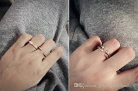 ceramic gold rings images Opening rings luxury brand steel men women rings finger steel jpg