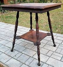 claw foot table with glass balls in the claw antique victorian parlor table w glass claw feet 70 00 picclick