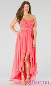 plus size high low hem prom dresses long dresses online