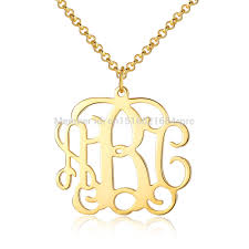 monogrammed pendant 47 monogram pendant necklaces personalized block monogram