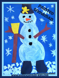 painted snowman craft for kids homeschooled kids online
