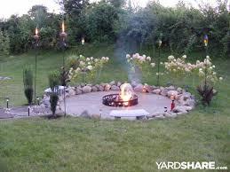 Build Backyard Fire Pit - landscaping ideas u003e fire pit yardshare com