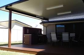Patio Lighting Perth Solarspan Fly Roof Exle Used On This Outdoor Deck Front