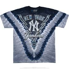 New York Yankees Home Decor Mlb New York Yankees V Tie Dye T Shirt Tee Liquid Blue