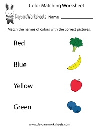 coloring pages free preschool color matching worksheet colors