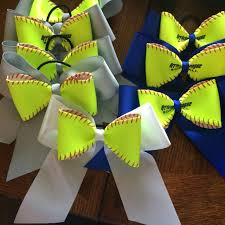 softball bows find more softball bows pony any color ribbon real softball