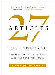 Articles 27 Articles Book By T E Lawrence John Hulsman David Rhodes