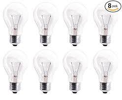 rough service light bulbs pack of 8 60a19 cl 560 lumens 60 watt standard household a19 e26